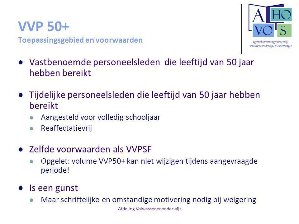 VVP 50+ Toepassingsgebied en voorwaarden