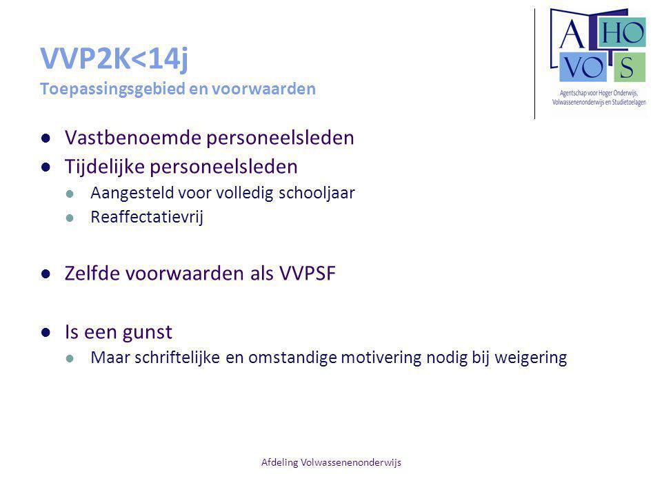 VVP2K<14j Toepassingsgebied en voorwaarden