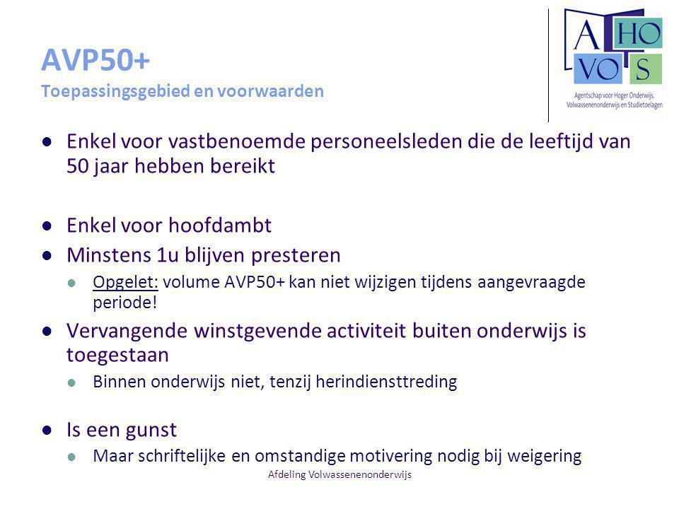 AVP50+ Toepassingsgebied en voorwaarden