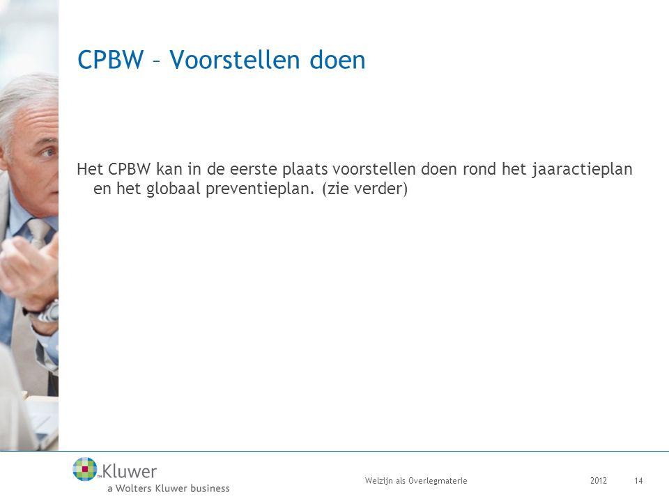 CPBW – Voorstellen doen