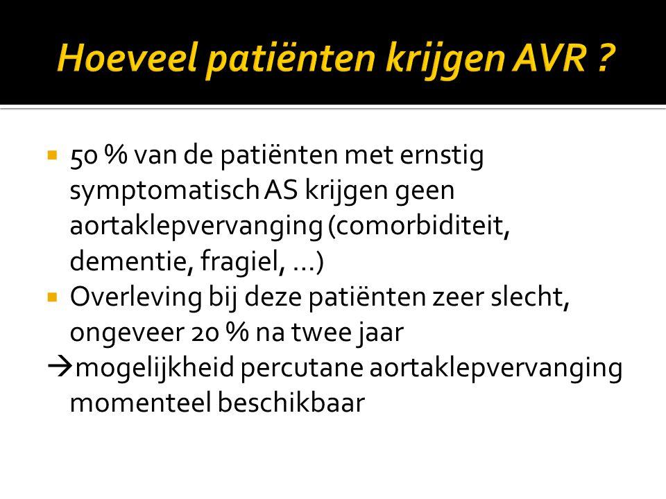 Hoeveel patiënten krijgen AVR