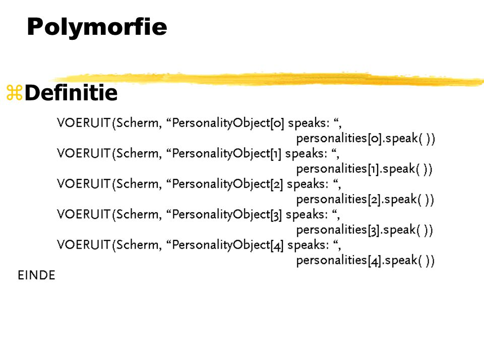 Polymorfie Definitie