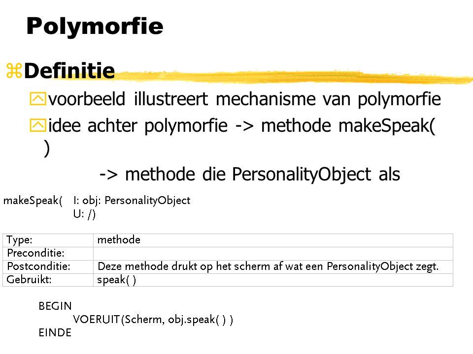 Polymorfie Definitie voorbeeld illustreert mechanisme van polymorfie