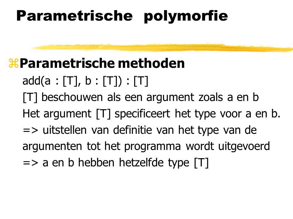 Parametrische polymorfie