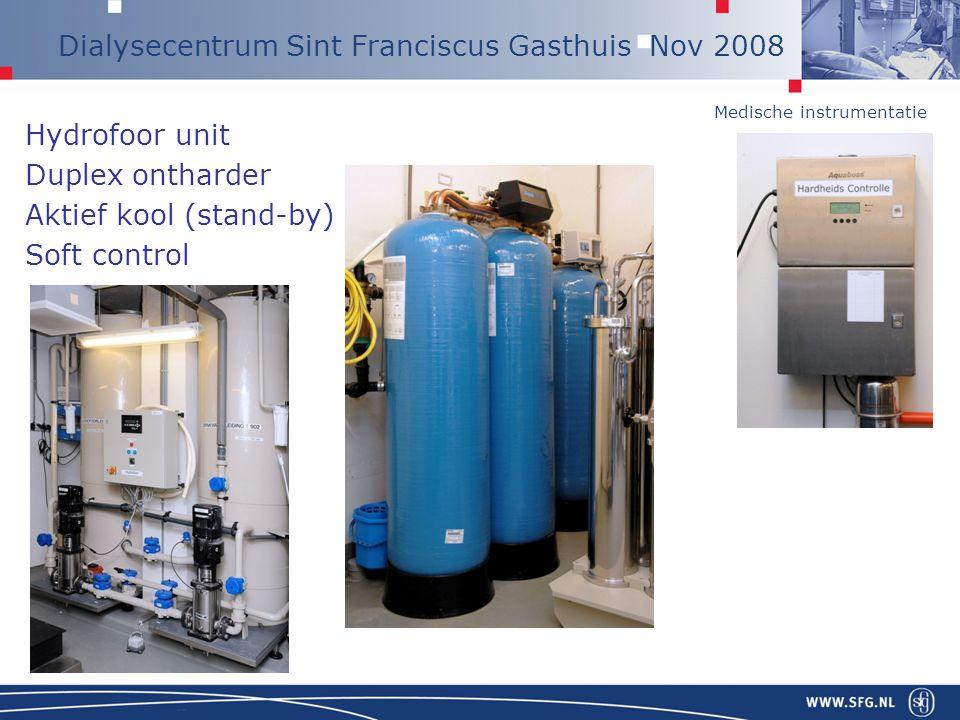 Hydrofoor unit Duplex ontharder Aktief kool (stand-by) Soft control