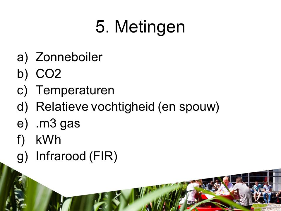 5. Metingen Zonneboiler CO2 Temperaturen