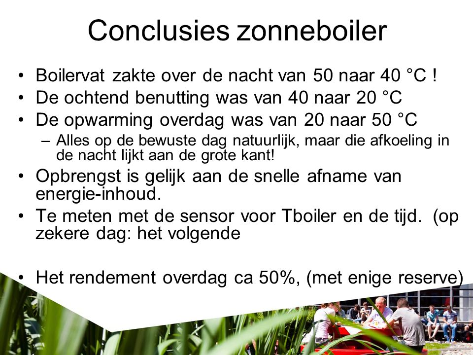 Conclusies zonneboiler