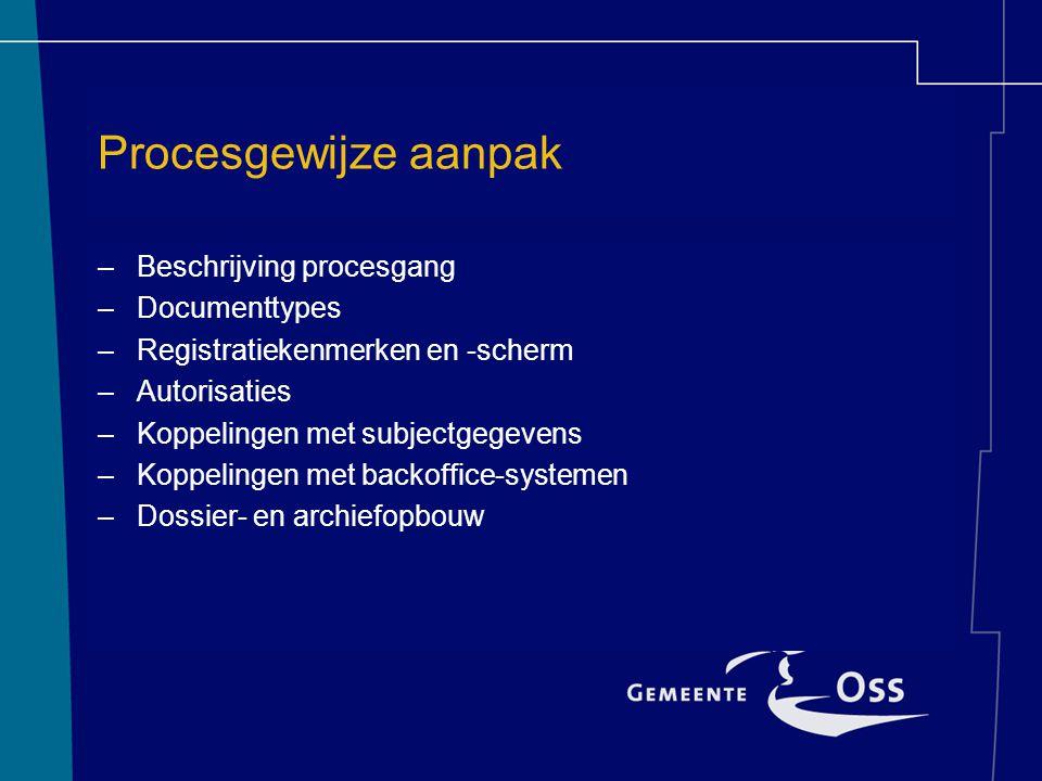 Procesgewijze aanpak Beschrijving procesgang Documenttypes