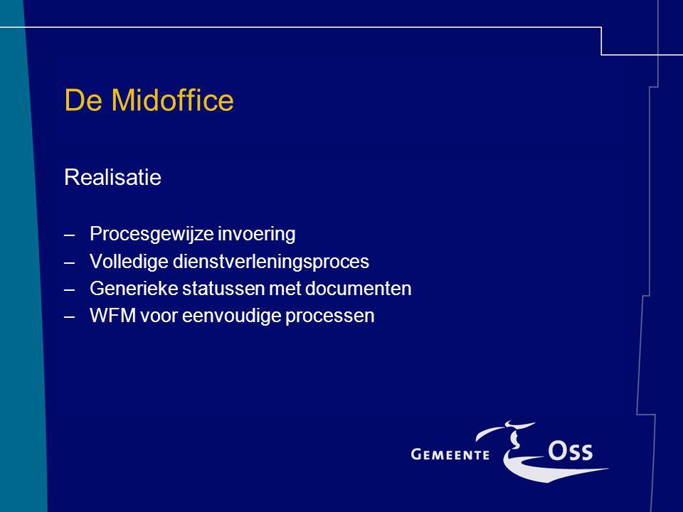 De Midoffice Realisatie Procesgewijze invoering
