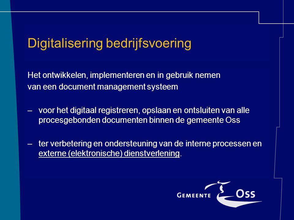Digitalisering bedrijfsvoering