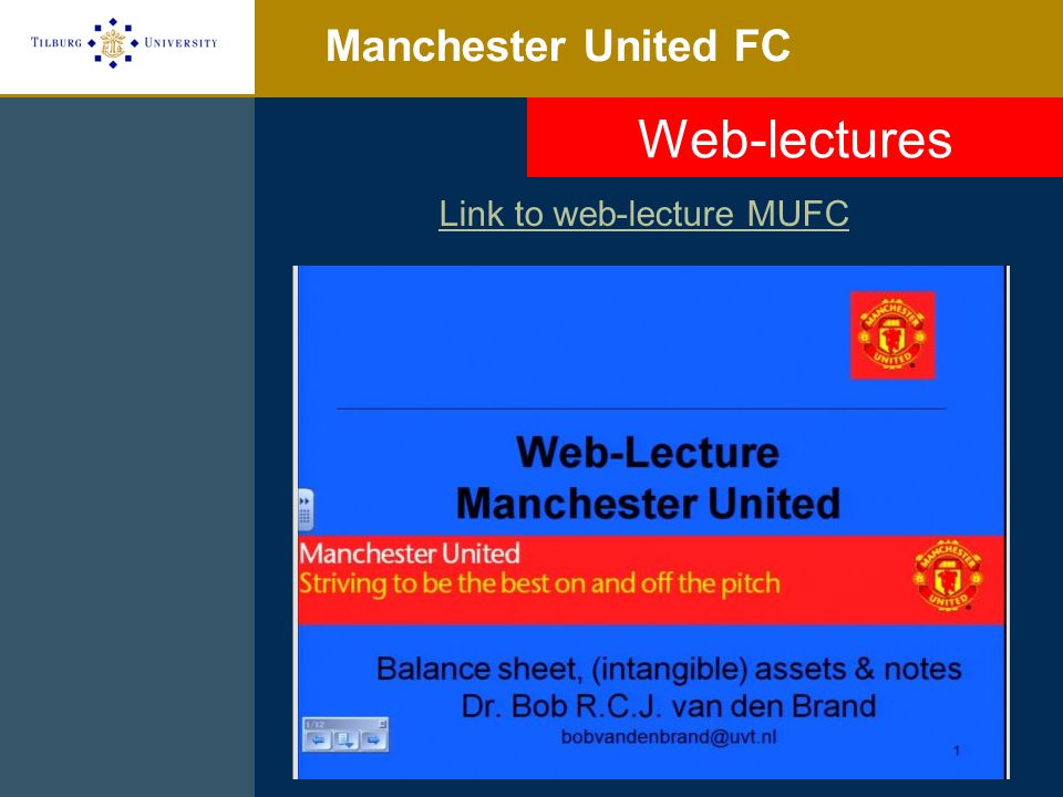 Link to web-lecture MUFC
