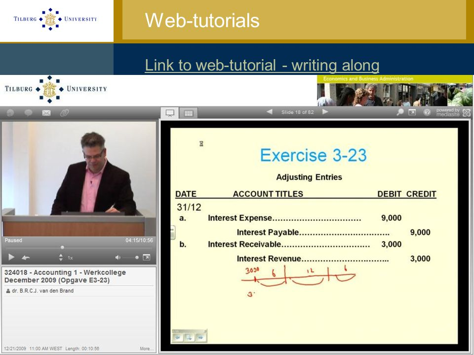 Web-tutorials Link to web-tutorial - writing along