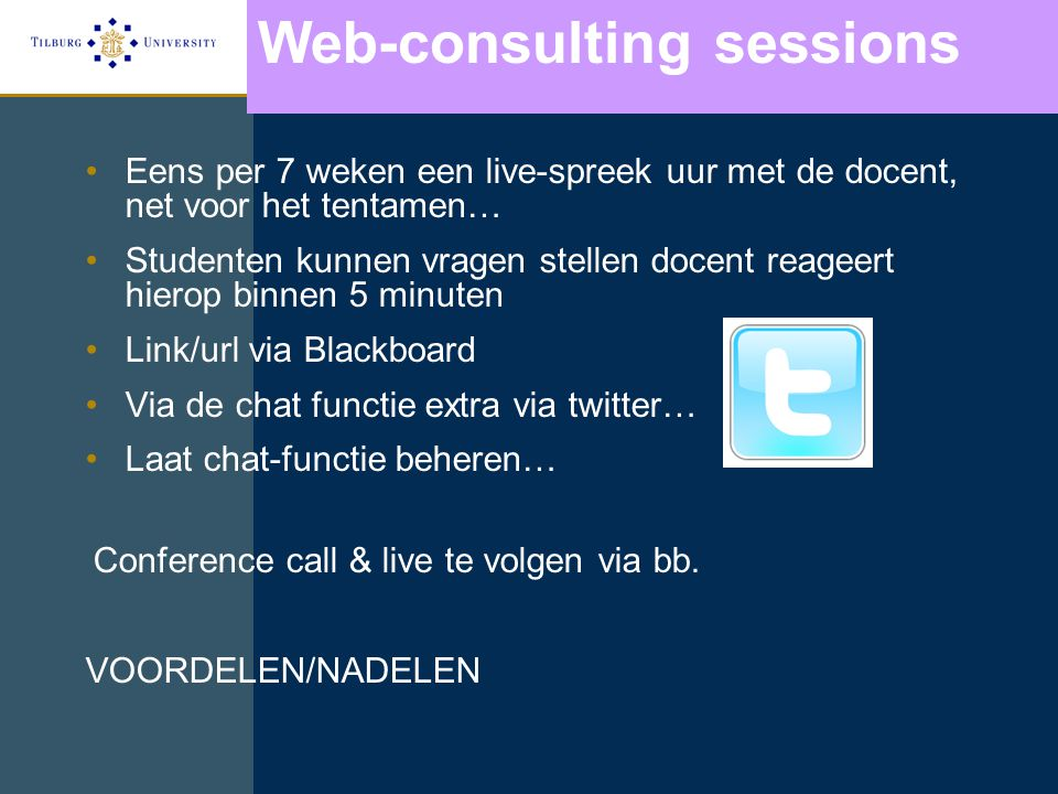 Web-consulting sessions