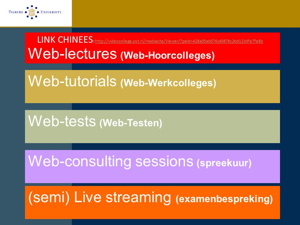 Web-lectures (Web-Hoorcolleges)