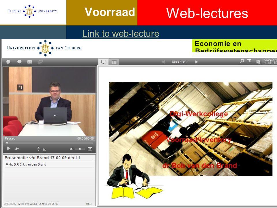 Web-lectures http://collegerama.tudelft.nl/mediasite
