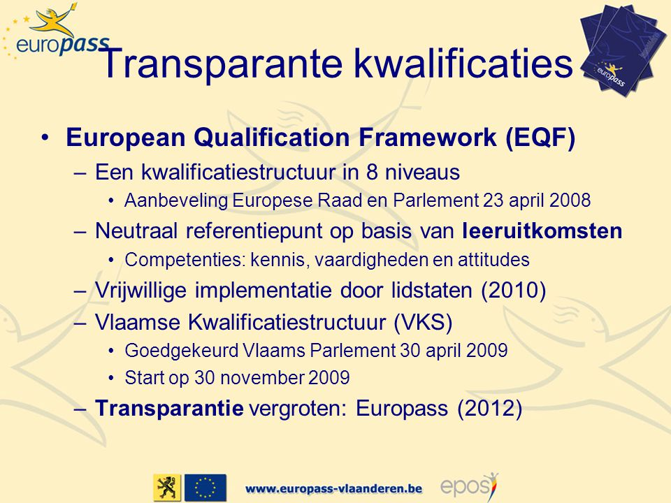 Transparante kwalificaties