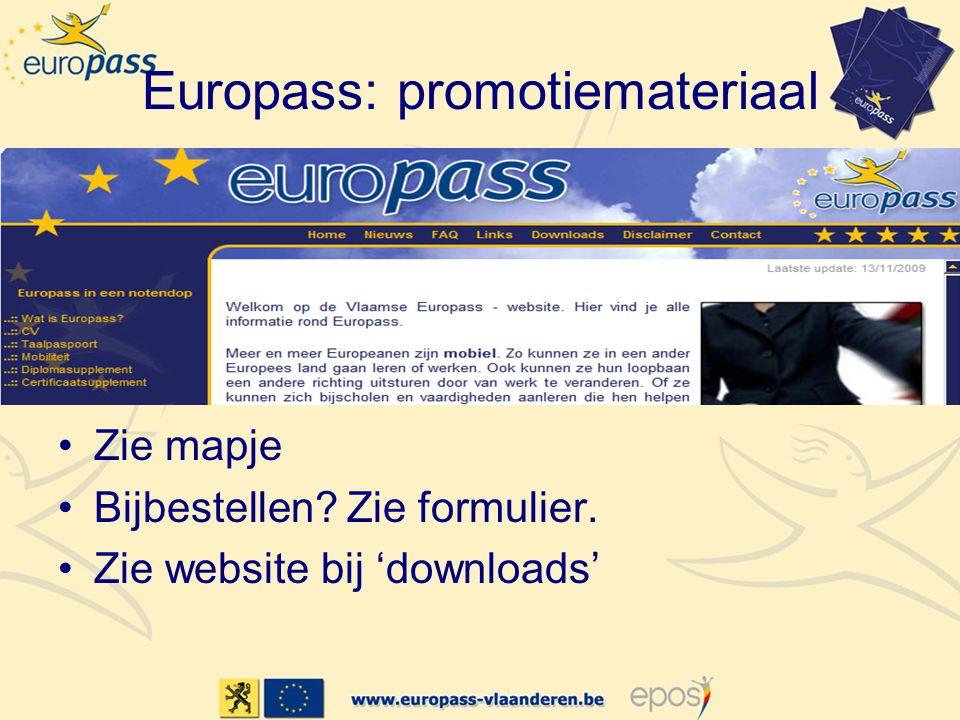 Europass: promotiemateriaal