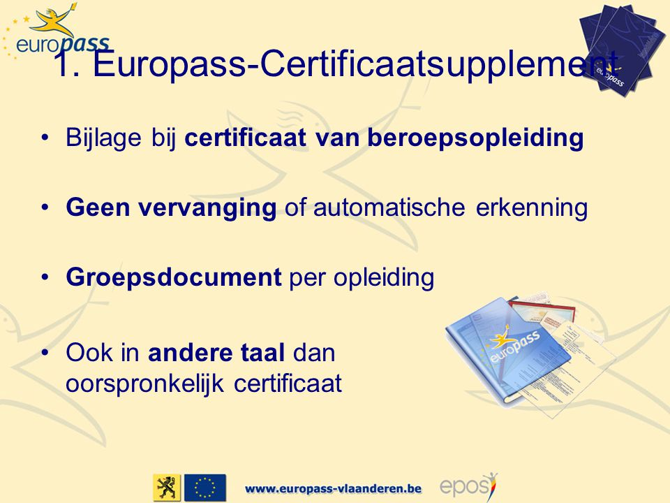 1. Europass-Certificaatsupplement