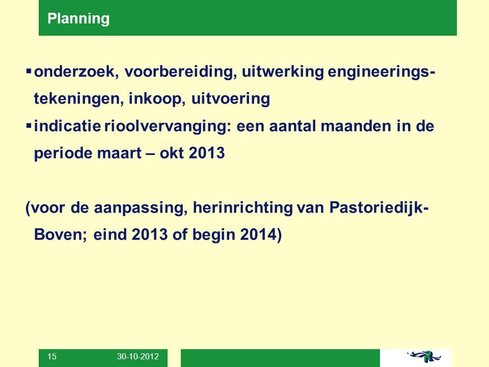 Planning onderzoek, voorbereiding, uitwerking engineerings-tekeningen, inkoop, uitvoering.