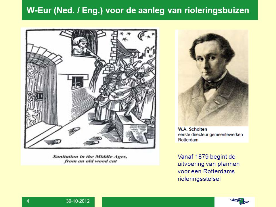 W-Eur (Ned. / Eng.) voor de aanleg van rioleringsbuizen