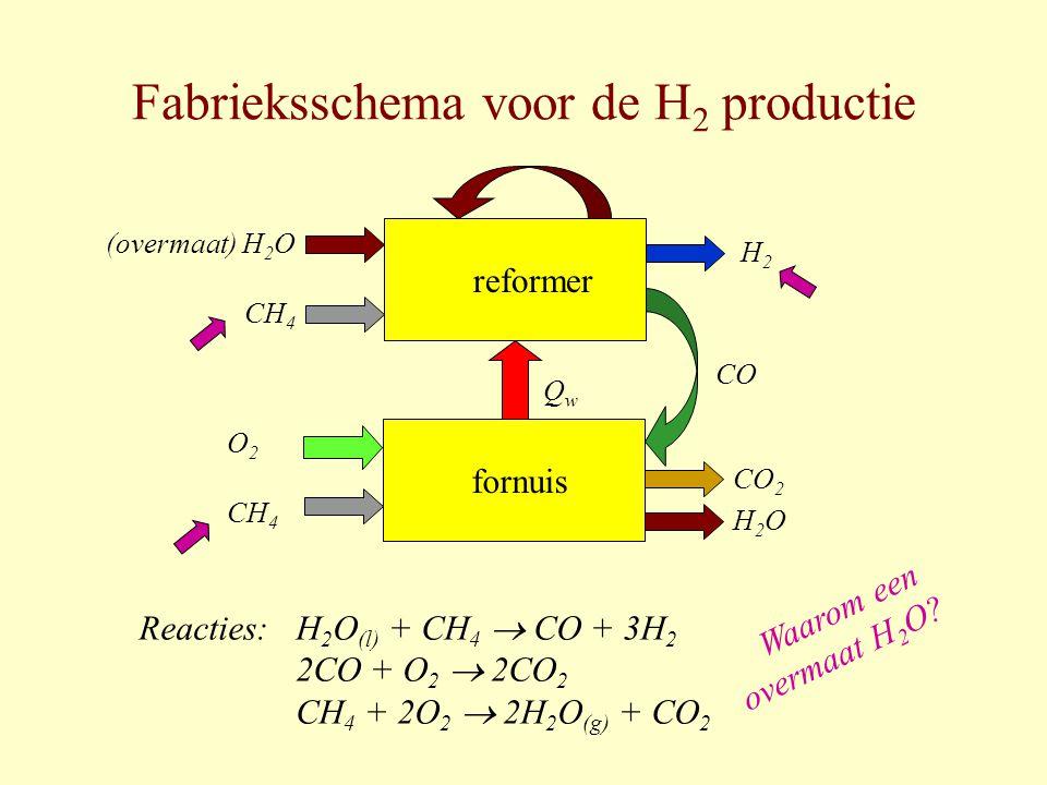Fabrieksschema voor de H2 productie