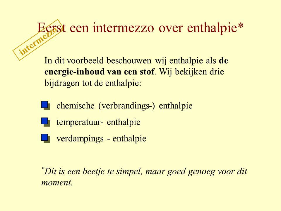 Eerst een intermezzo over enthalpie*