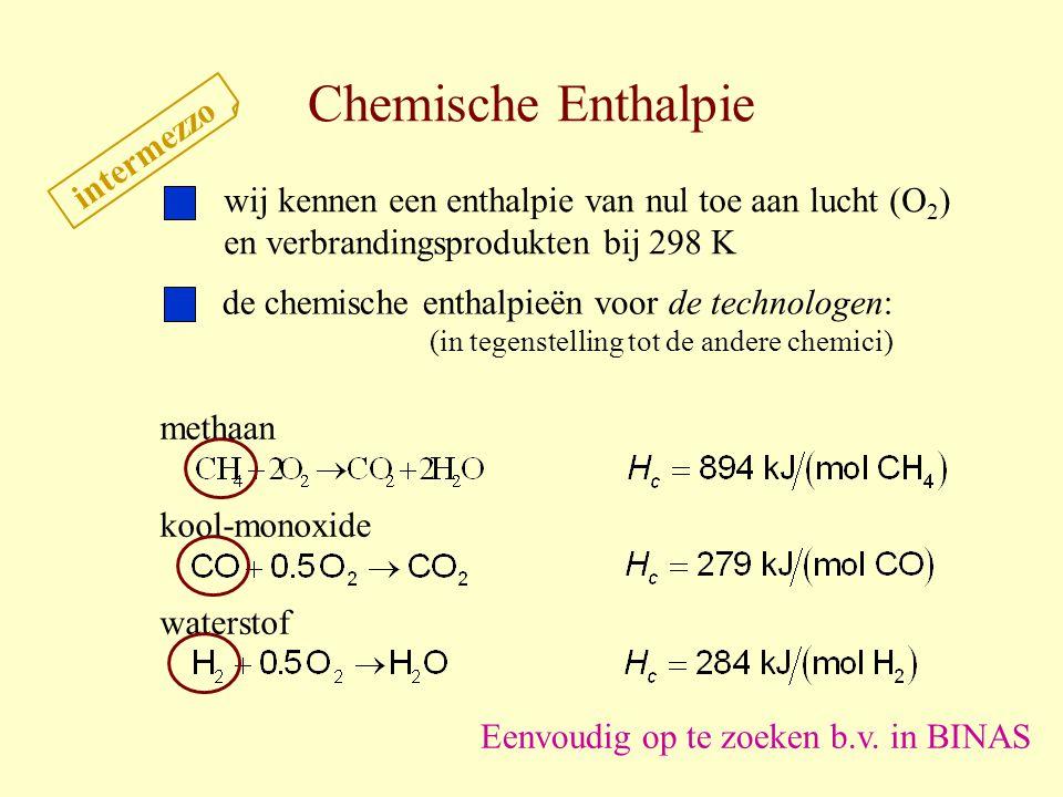 Chemische Enthalpie intermezzo
