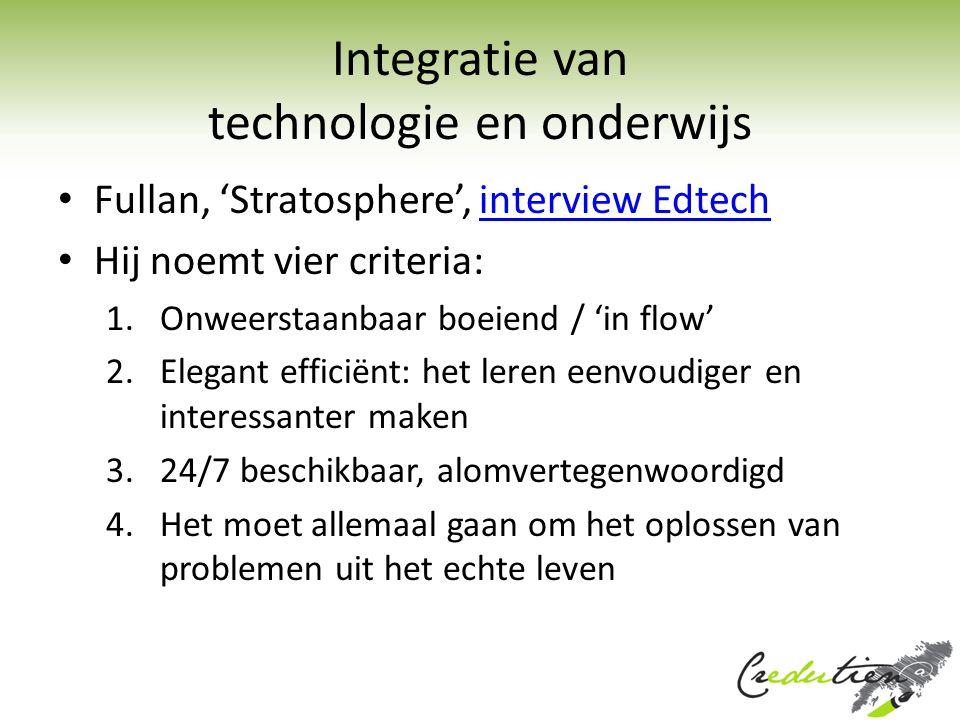 Integratie van technologie en onderwijs