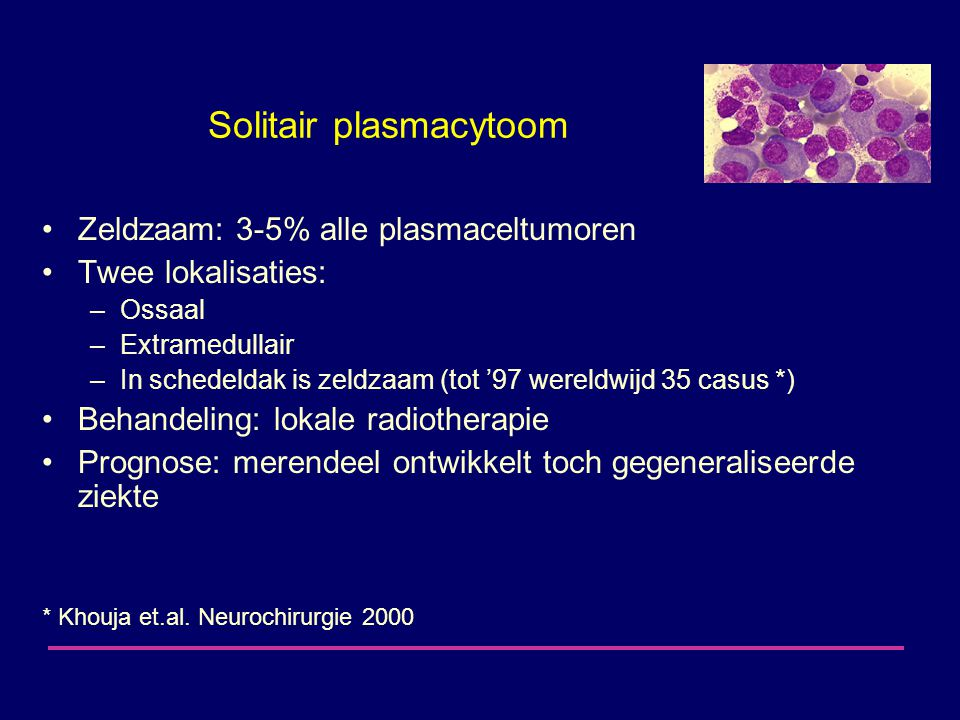 Solitair plasmacytoom