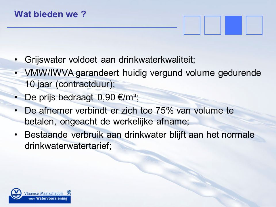 Grijswater voldoet aan drinkwaterkwaliteit;