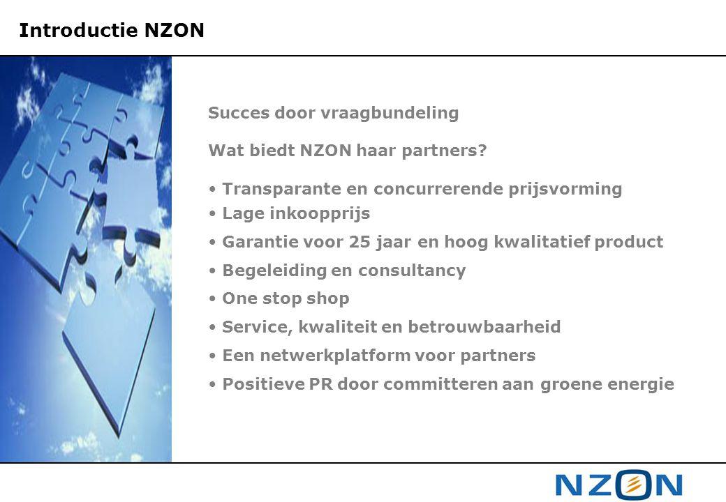 Introductie NZON Succes door vraagbundeling