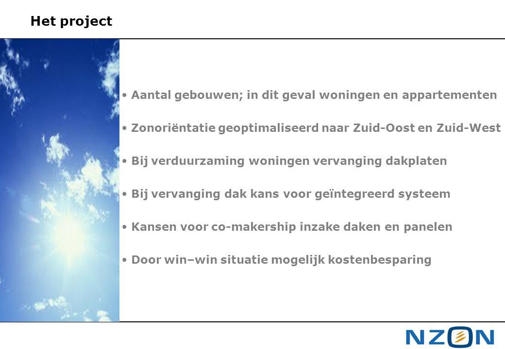Het project Aantal gebouwen; in dit geval woningen en appartementen