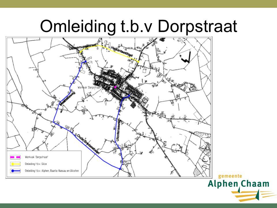 Omleiding t.b.v Dorpstraat