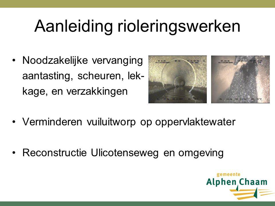 Aanleiding rioleringswerken