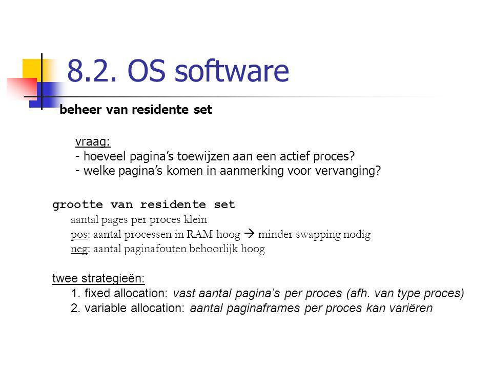 8.2. OS software beheer van residente set vraag: