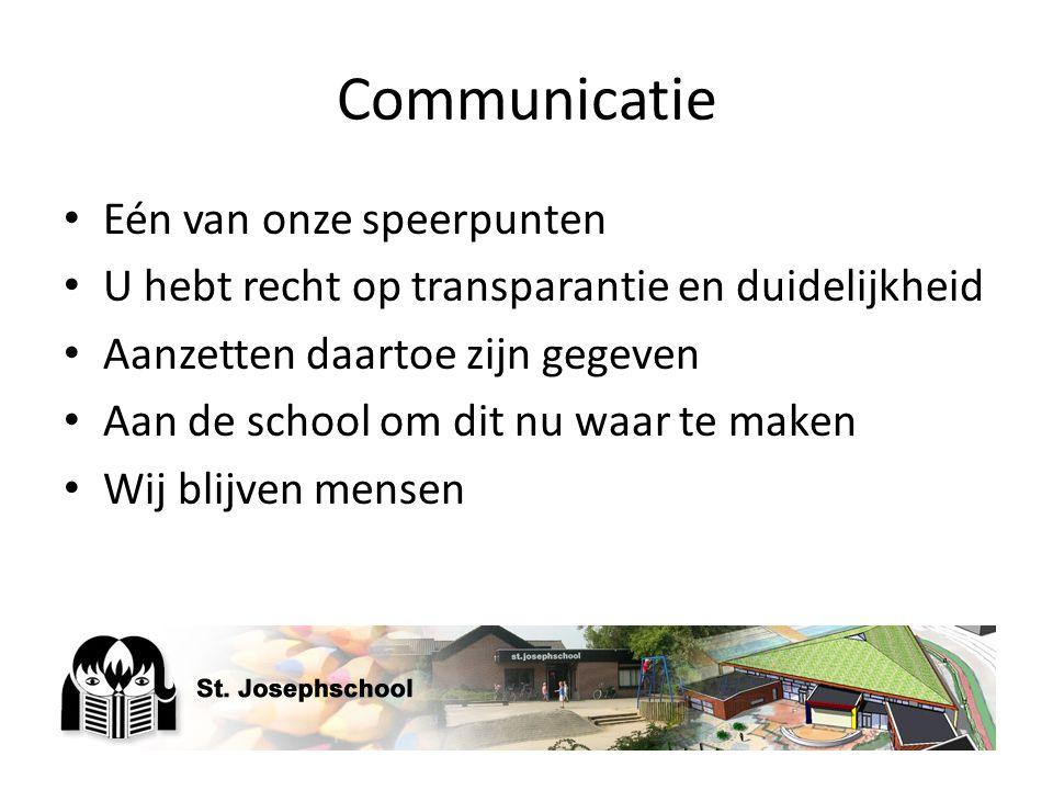 Communicatie Eén van onze speerpunten