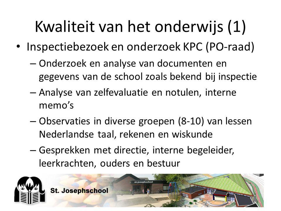 Kwaliteit van het onderwijs (1)