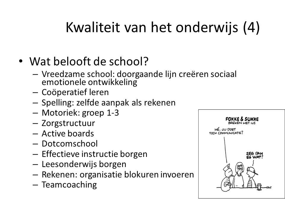 Kwaliteit van het onderwijs (4)