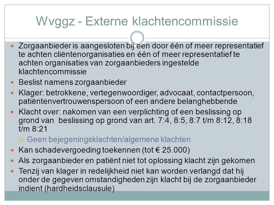 Wvggz - Externe klachtencommissie