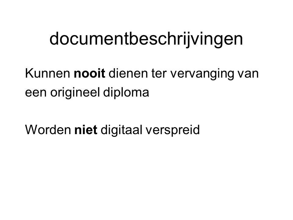 documentbeschrijvingen