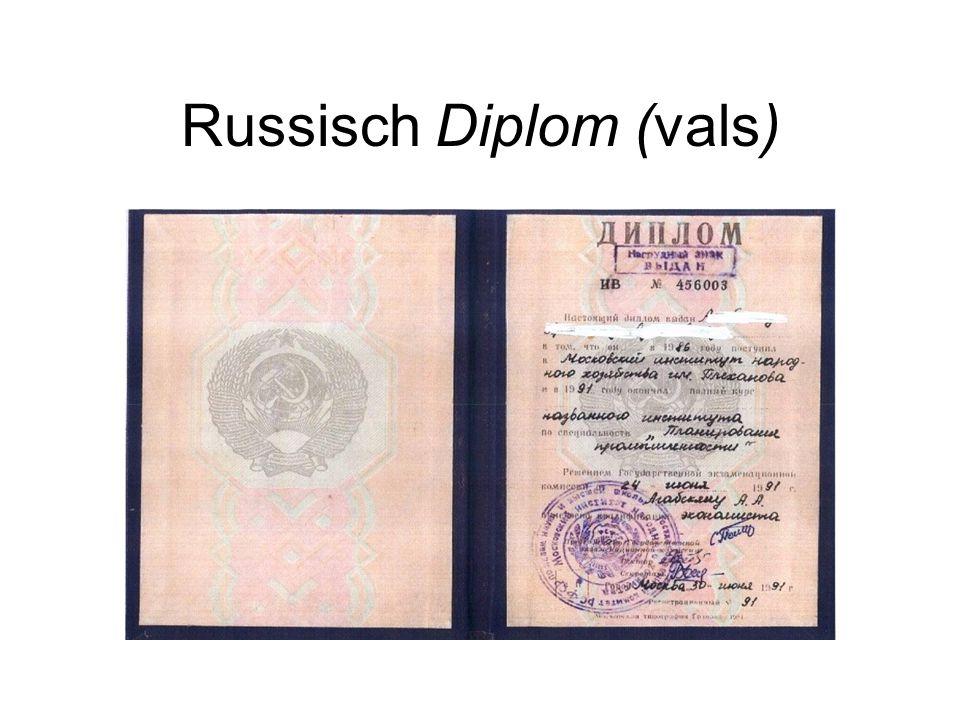 Russisch Diplom (vals)