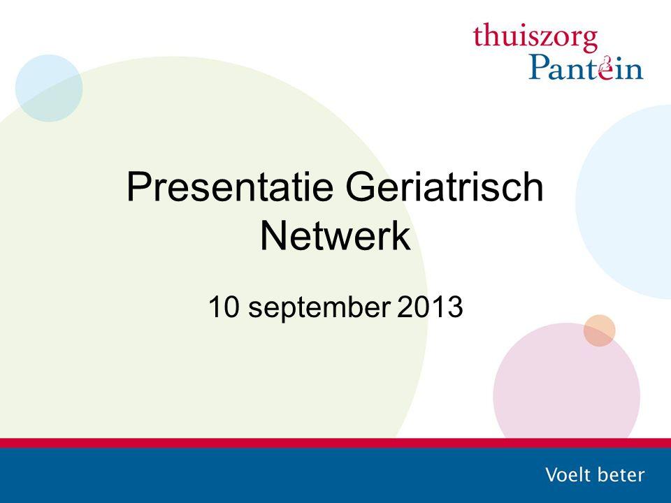Presentatie Geriatrisch Netwerk