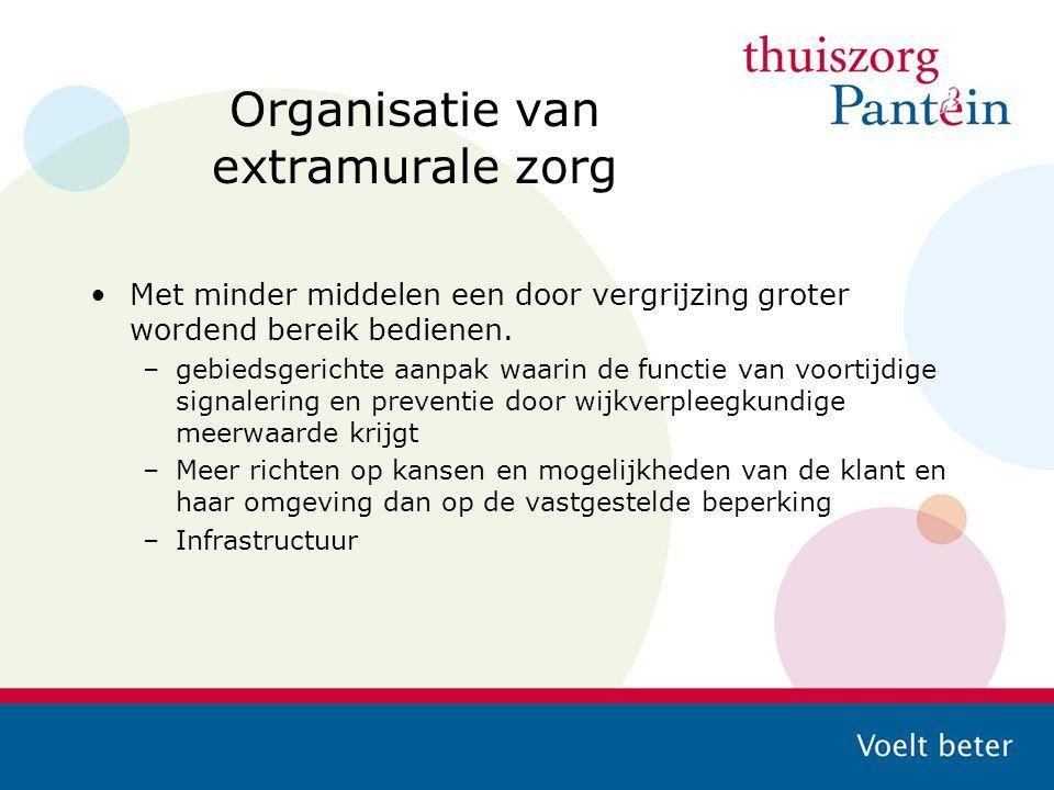 Organisatie van extramurale zorg