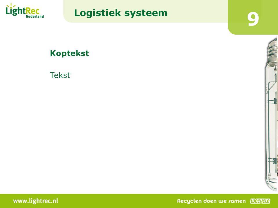 Logistiek systeem 9 Koptekst Tekst