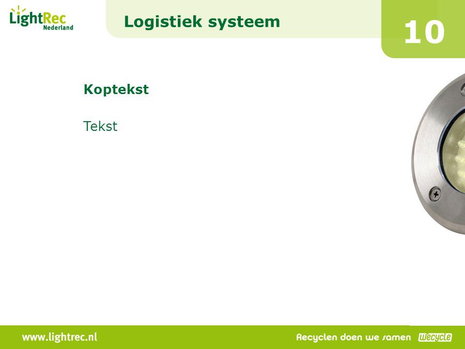 Logistiek systeem 10 Koptekst Tekst