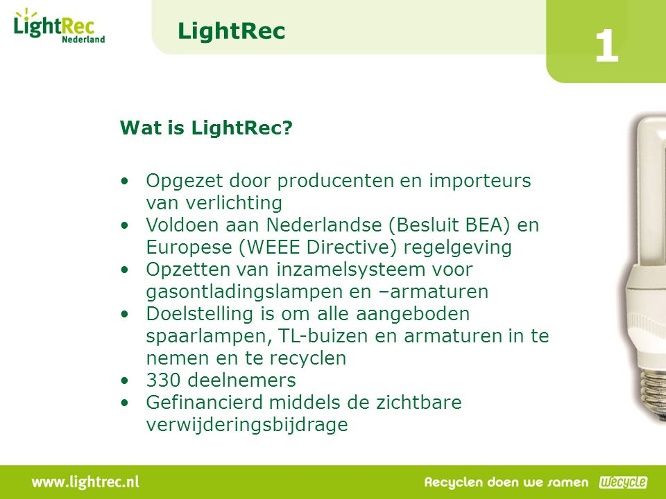 1 LightRec Wat is LightRec