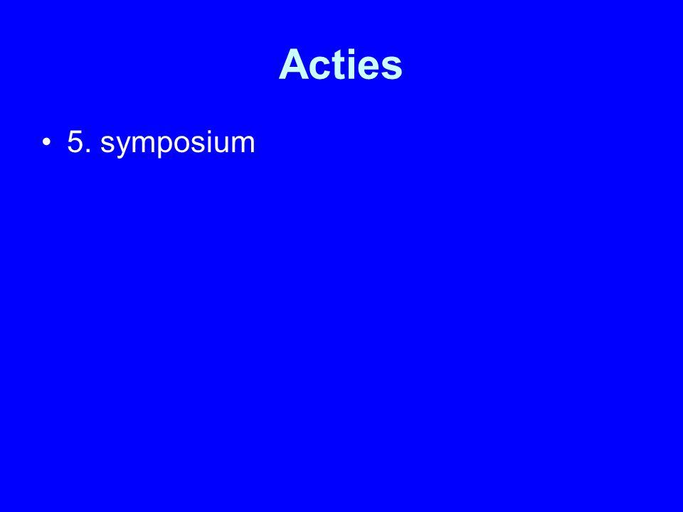 Acties 5. symposium
