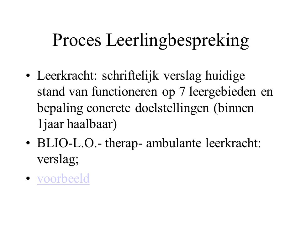 Proces Leerlingbespreking