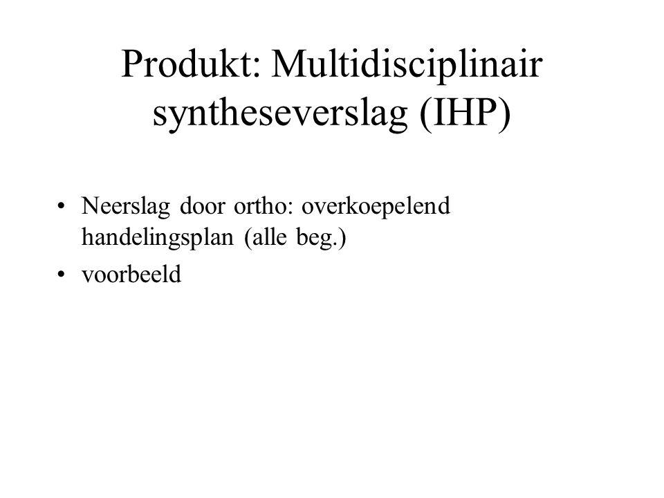 Produkt: Multidisciplinair syntheseverslag (IHP)