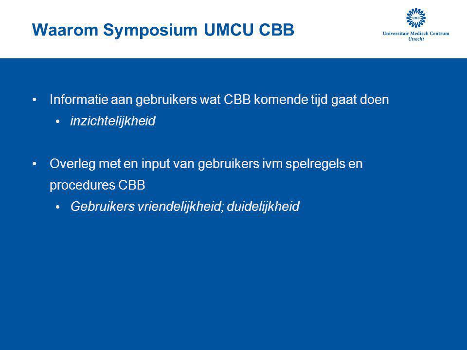 Waarom Symposium UMCU CBB